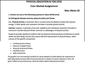 NIOS Physical Education & Yog (373) Solved Assignment 20-21