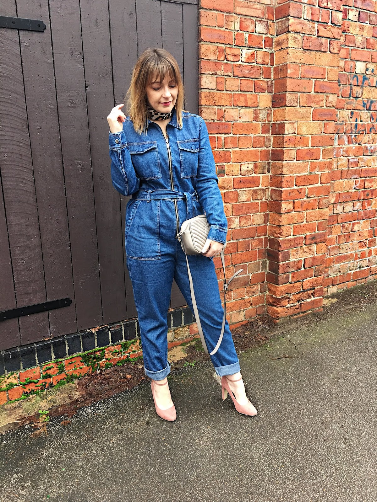 Denim Utility Boilersuit