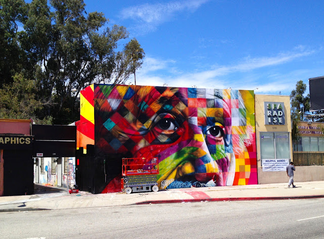 Street Art Portrait Of Einstein By Eduardo Kobra In Los Angeles, USA. 4
