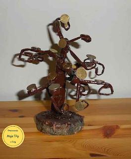 Drzewko monetkowe, moje diy, pracownia u ewy