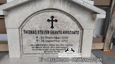 Model Batu Nisan Kristen, Nisan Istana Marmer, Batu Nisan Kuburan Kristen