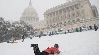 Capitol Police Deny Congresswoman's Request To Open Capitol Hill For Sledding