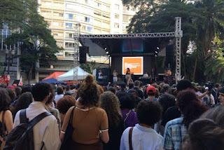 Mulheres feministas e artistas protestam em São Paulo pelas diretas e por direitos | Ludmilla Souza/Agência Brasil