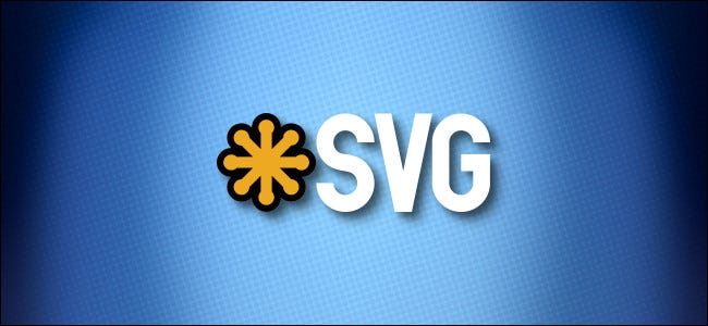 شعار SVG على خلفية زرقاء