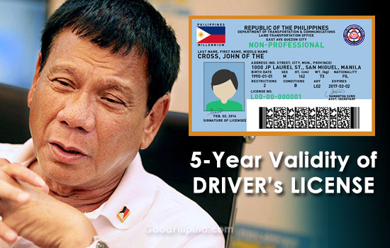 LTO: '5-years' validity of driver's license to release next month