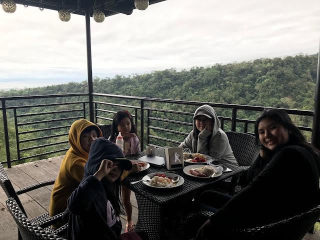 Kids having breakfast at Vista Tala Bataan