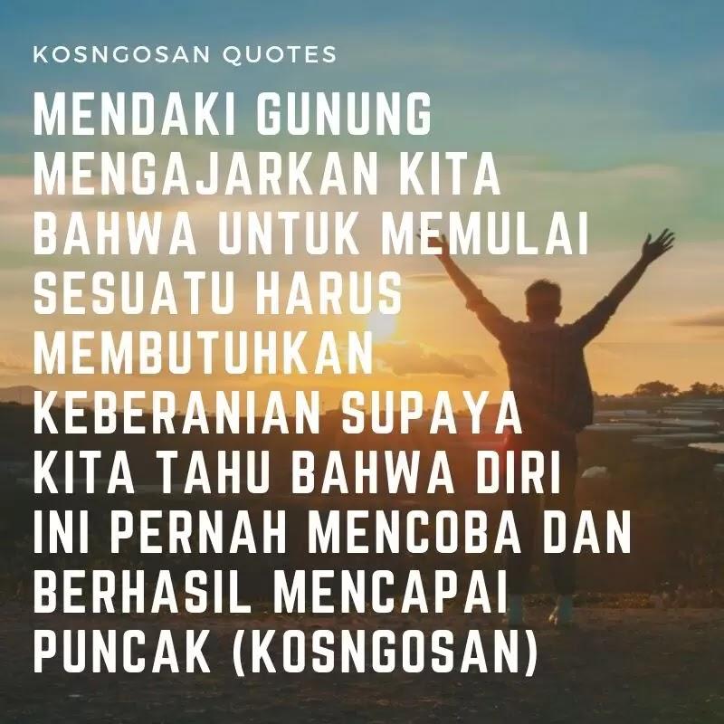 quotes mendaki gunung