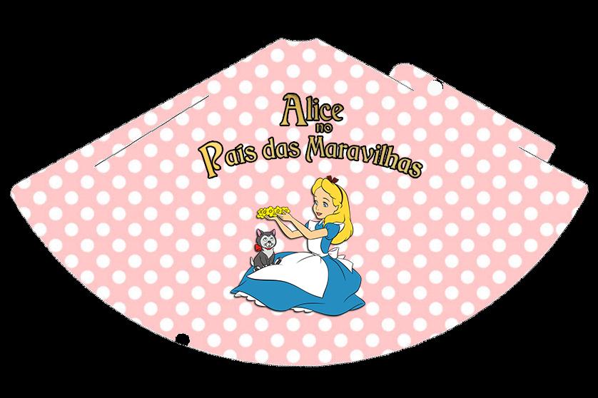 Gorros para imprimir gratis de Alicia en Rosa y Celeste.