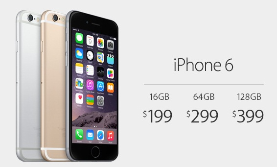 On-Contract Carrier Locked iPhone 6 Price