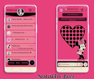 Minnie Pink Love Theme For YOWhatsApp & Fouad WhatsApp By Natalia Luz