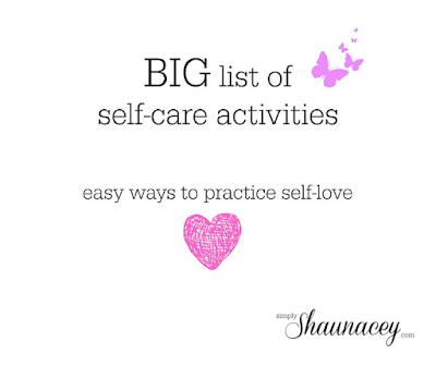 big list self care activities