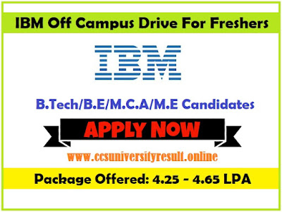 IBM Recruitment Drive For Freshers 2019