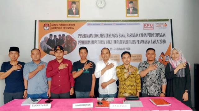 KPU LAMPUNG Lakukan Supervisi  ke KPU Kabupaten Pesawaran