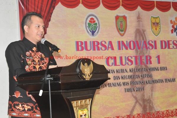 Bupati Gumas Jaya S.Monong Buka Kegiatan Bursa Inovasi Desa BID) Cluster I