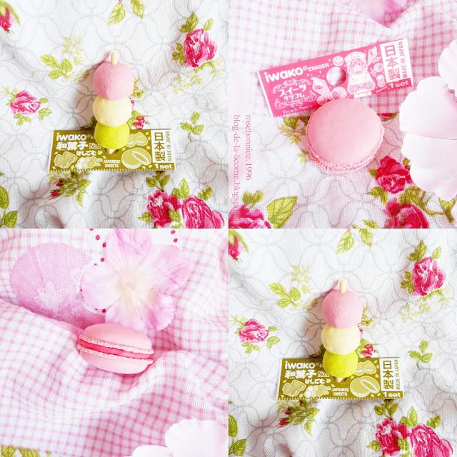 Pink Macaron Eraser French Pastry Iwako Dango Mochi Eraser review