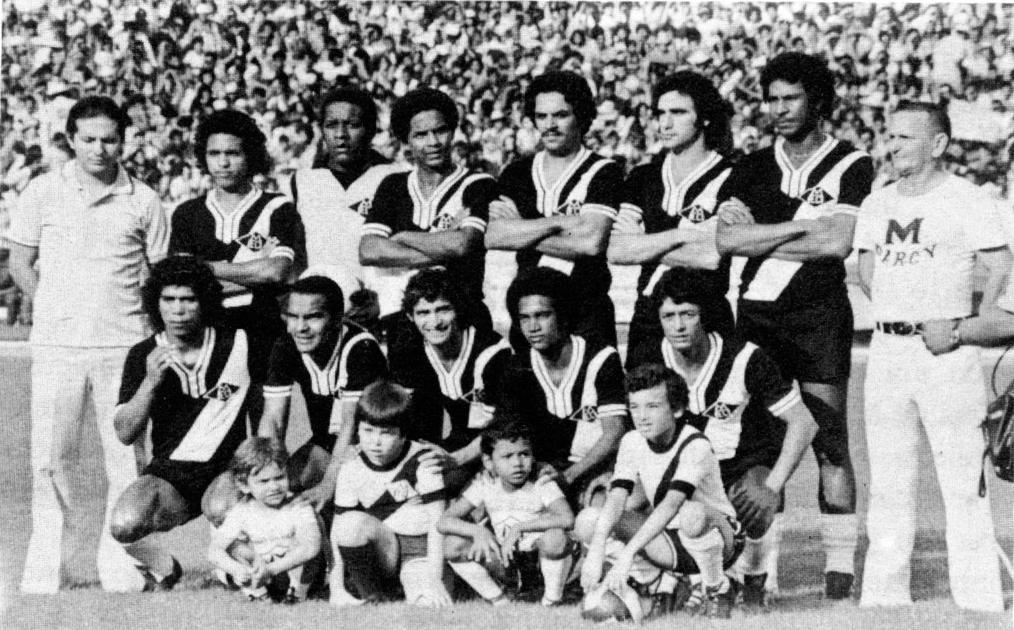 Pelezinho, Rômulo, Bife, Pastoril e Traíra no Campeonato Nacional de 1976 no Estádio Verdão lotado