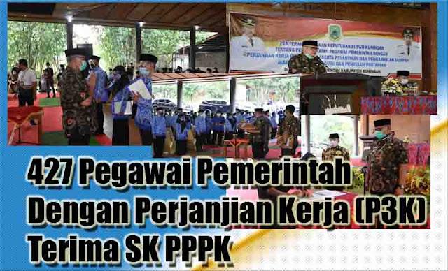 427 Pegawai Pemerintah Dengan Perjanjian Kerja (P3K) Terima SK PPPK