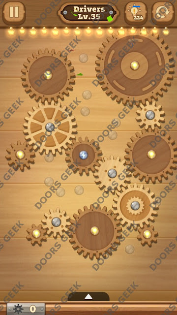 Fix it: Gear Puzzle [Drivers] Level 35 Solution, Cheats, Walkthrough for Android, iPhone, iPad and iPod