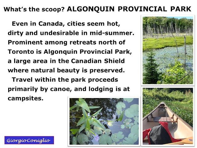 canoeing; Canada; parks; wilderness; ecology; Giorgio Coniglio