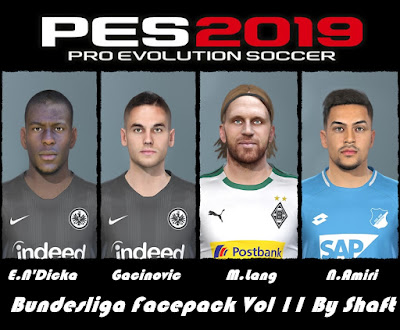 PES 2019 Bundesliga Facepack Vol 11 by Shaft