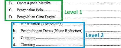 Bagaimana cara membuat titik-titik daftar isi otomatis pada Word
