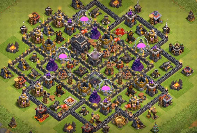 Base COC TH9 Trophy 6