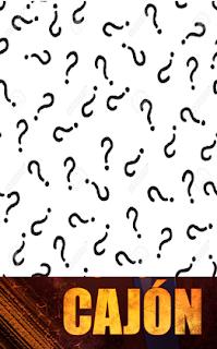 Portada de la novela Héroes de cajón cubierta casi en su totalidad con signos de interrogación