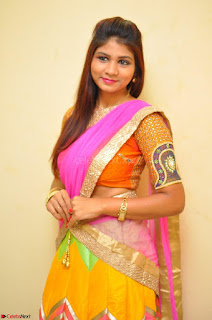 Lucky Sree in dasling Pink Saree and Orange Choli DSC 0356 1600x1063.JPG