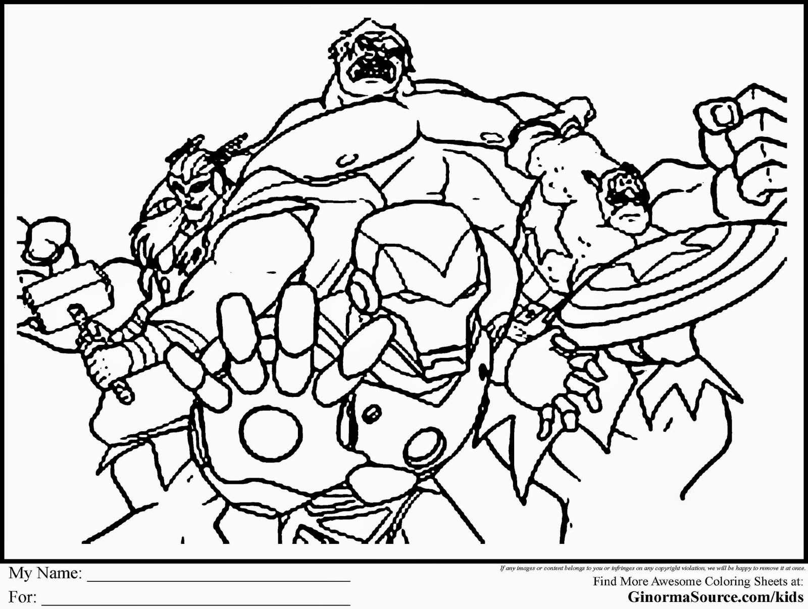 COLORING PAGES AVENGERS  Coloring Pages Printable
