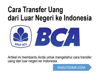 cara transfer uang dari luar negeri ke BCA