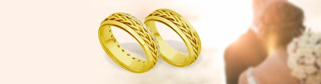 Alianças em ouro com certificado de garantia