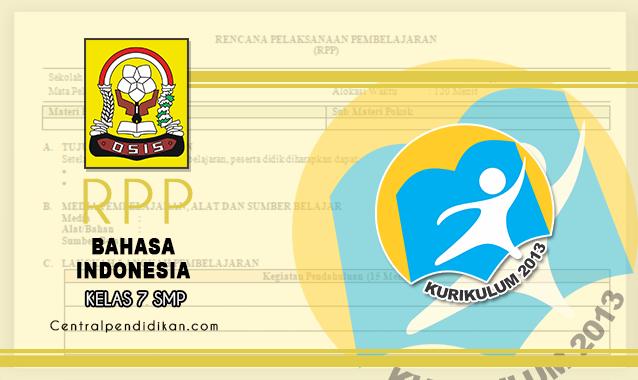 RPP 1 Lembar Bahasa Indonesia SMP Kelas 7