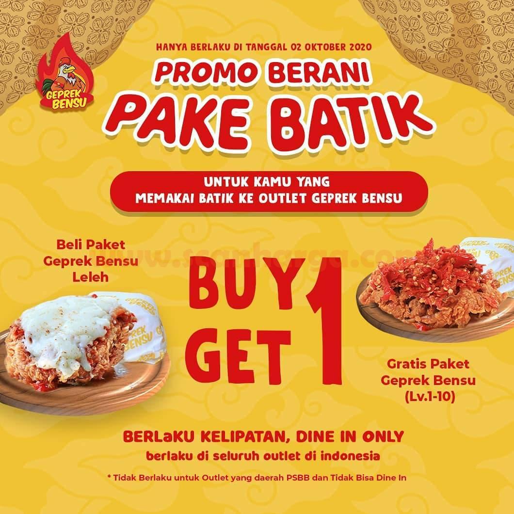 Geprek Bensu Promo Berani Pake Batik - Buy 1 Get 1 Free Paket
