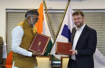 India and Finland sign an MoU for strengthening cooperation in the field of Tourism