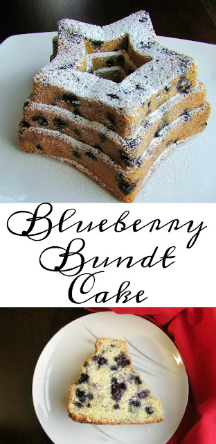 This recipe is adapted from the White House Pastry Chef's recipe for blueberry bundt cake. It is delicious, easy and perfect for spring, President's Day or 4th of July!