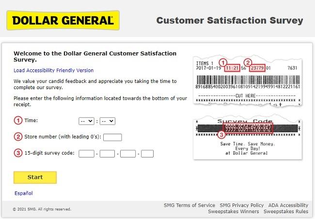 dg customer first survey code