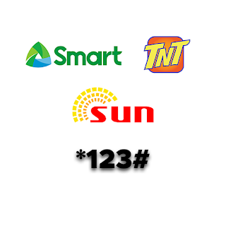 dial *123# for Smart, TNT and Sun