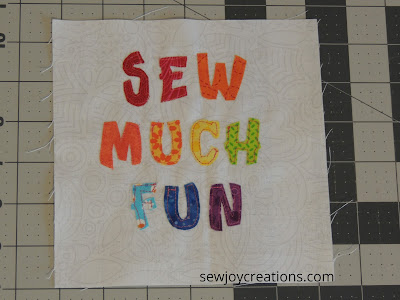 Sew Much Fun Tour block 1