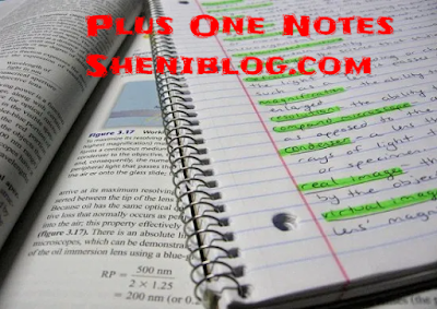 Sheni Blog Plus One (+1) Chemistry Notes