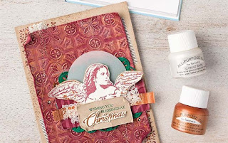 VIDEO: Stampin' Up! Tin Tile Embossing Folder & Angels on Earth Card ~ 2018 Holiday Catalog