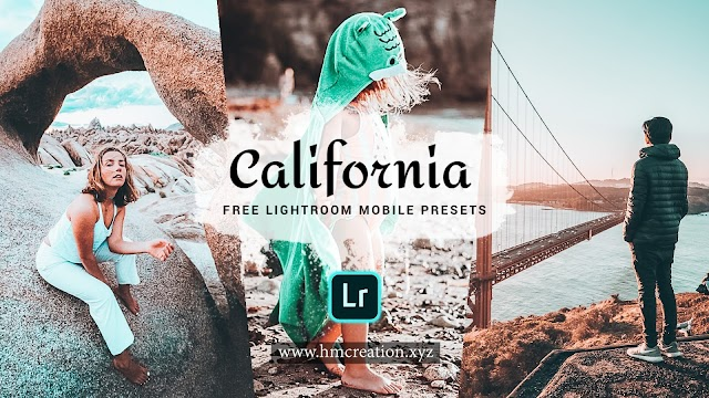 Free California lightroom presets for iPhone and desktop