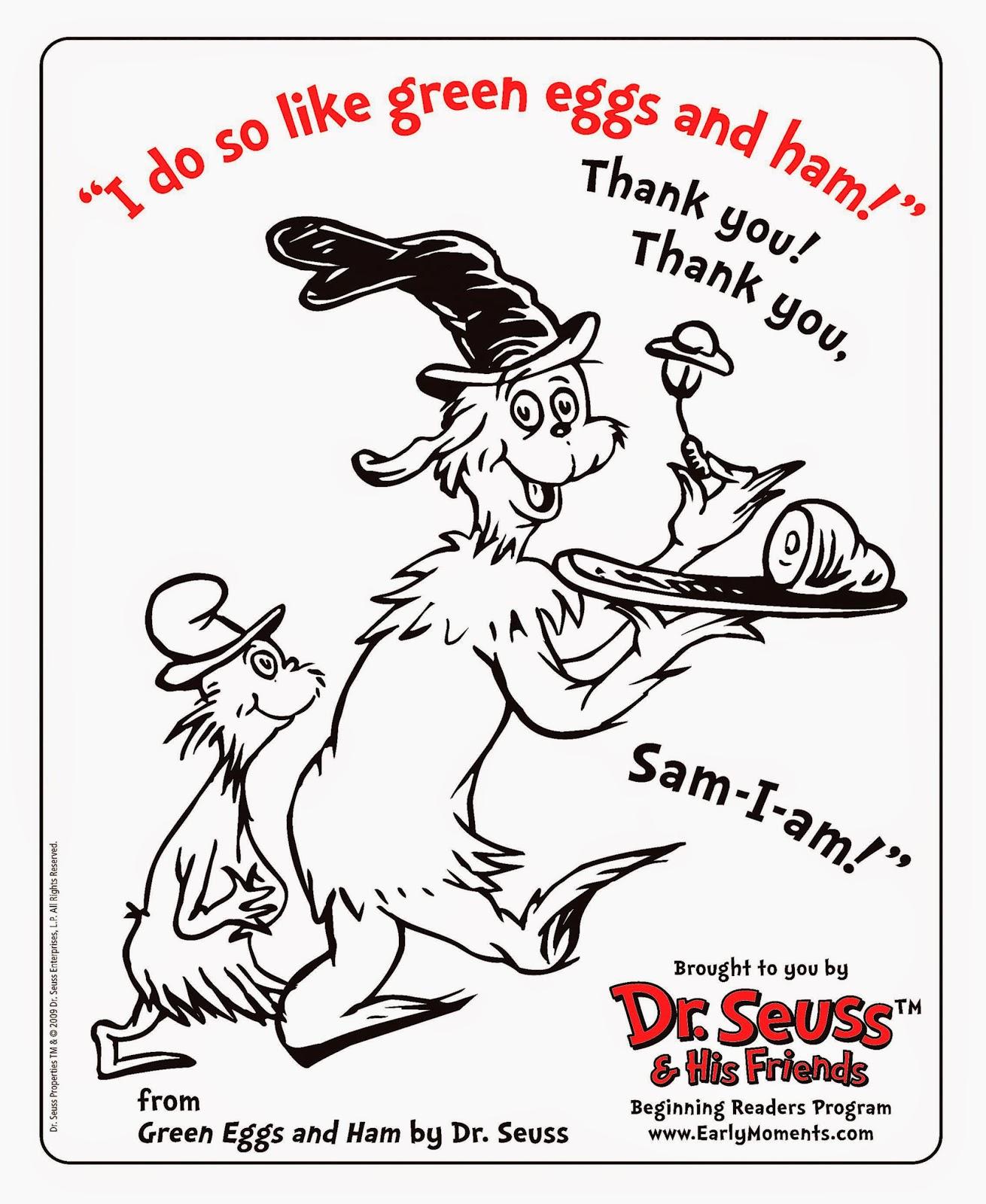 Dr Seuss Coloring Sheet