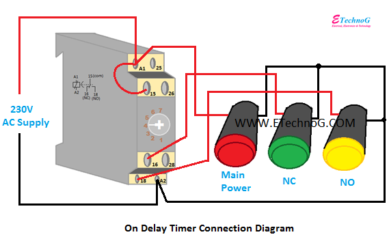 On Delay Timer Connection Diagram