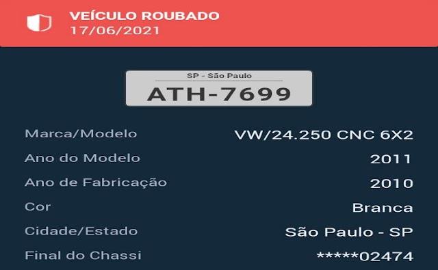 Mais um caminhão assaltado na BR- 423 no Agreste de Pernambuco