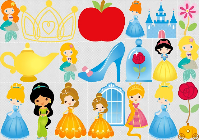 Disney Princes Babies Clip Art.