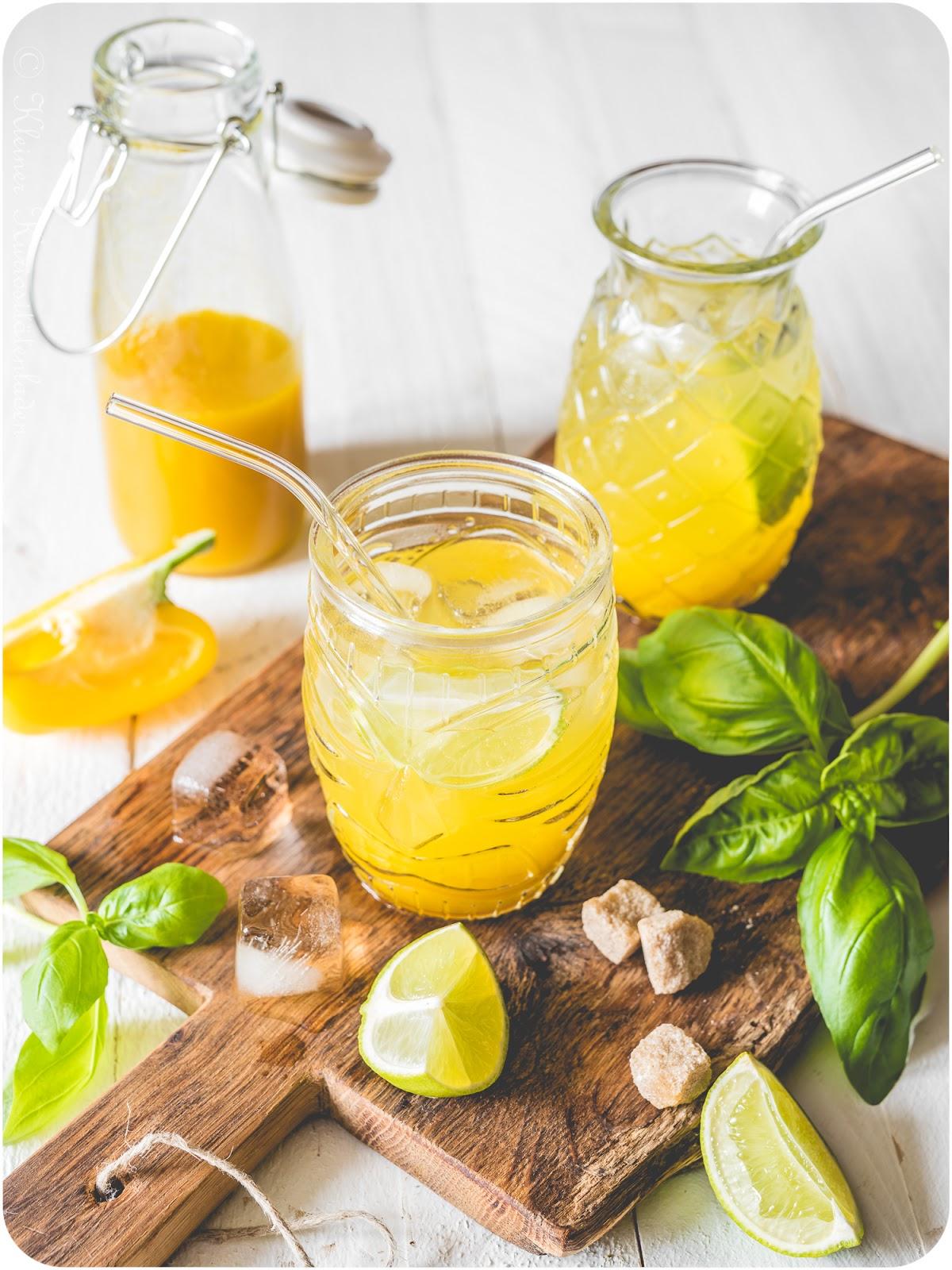 Paprika-Basilikum-Limonade