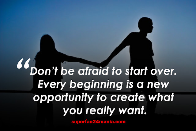 Don't be afraid to start over. Every beginning is a new opportunity to create what you really want.
