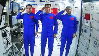 Astronauts on Sunday performed their first spacewalk on China's new space station