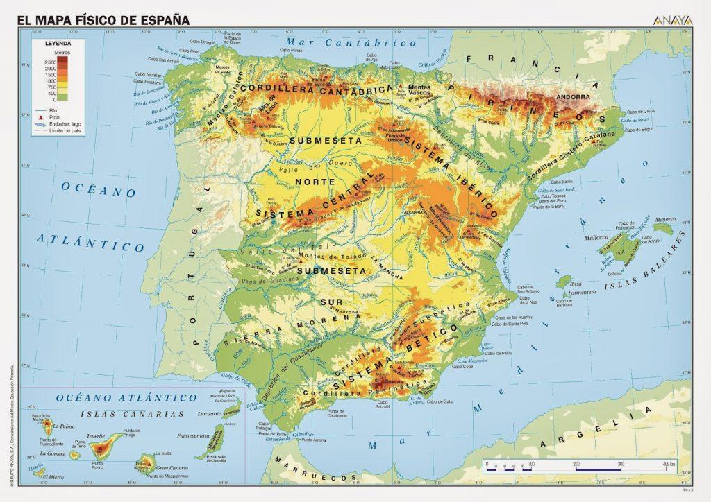 Juegos Mapa Politico De Espana.Arsducere Primaria Mapa Fisico De Espana