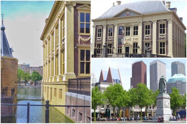 Canal en Binnenhof, Parlamento holandes en La Haya – Maurithuis - Rascacielos